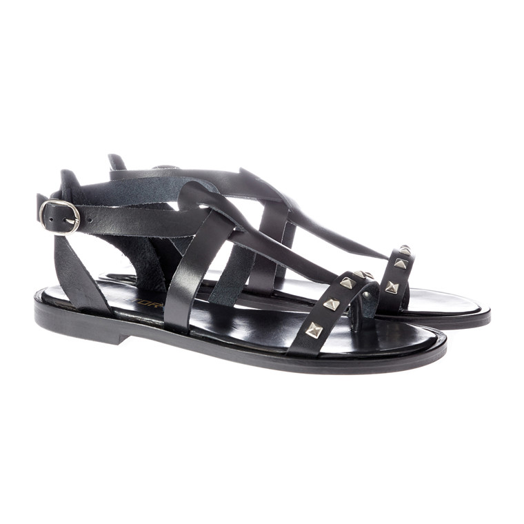 Mentor flad gladiator sandal m/nitter
