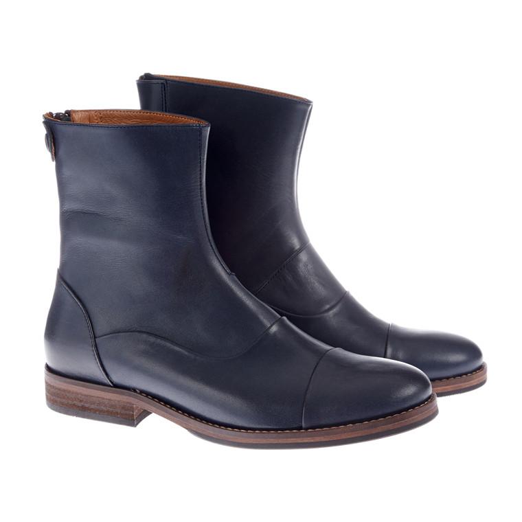 Mentor Back Zip boots i skind