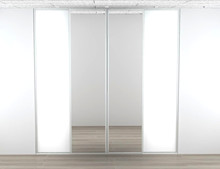 Kitchn skydelåger - 2 x glat & 2 x spejl låge