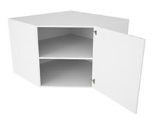 Diagonalt hjørneskab m. hylde - XL