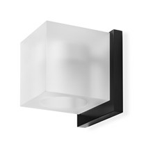 Simply Light Black væglampe – mat glas