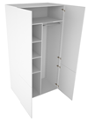 Combi garderobskåp – tvådelad lucka