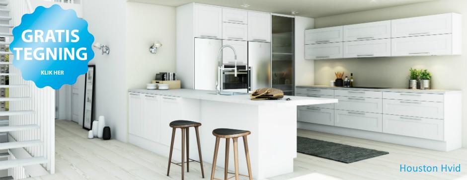 Nyt køkken, bad eller garderobe - køkken i god dansk kvalitet