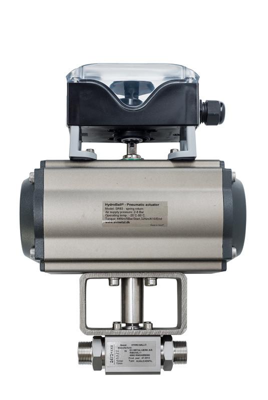 Rustfri kugleventil serie RR64 med aktuator