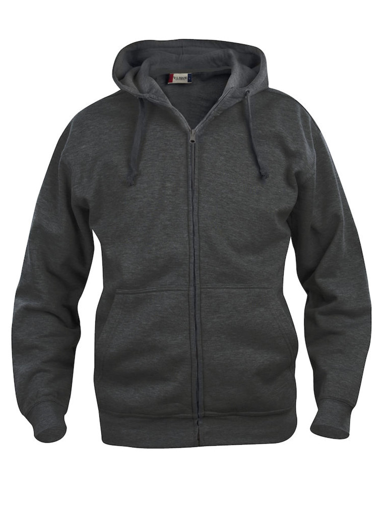 Basic Hoody Full Zip - Herre