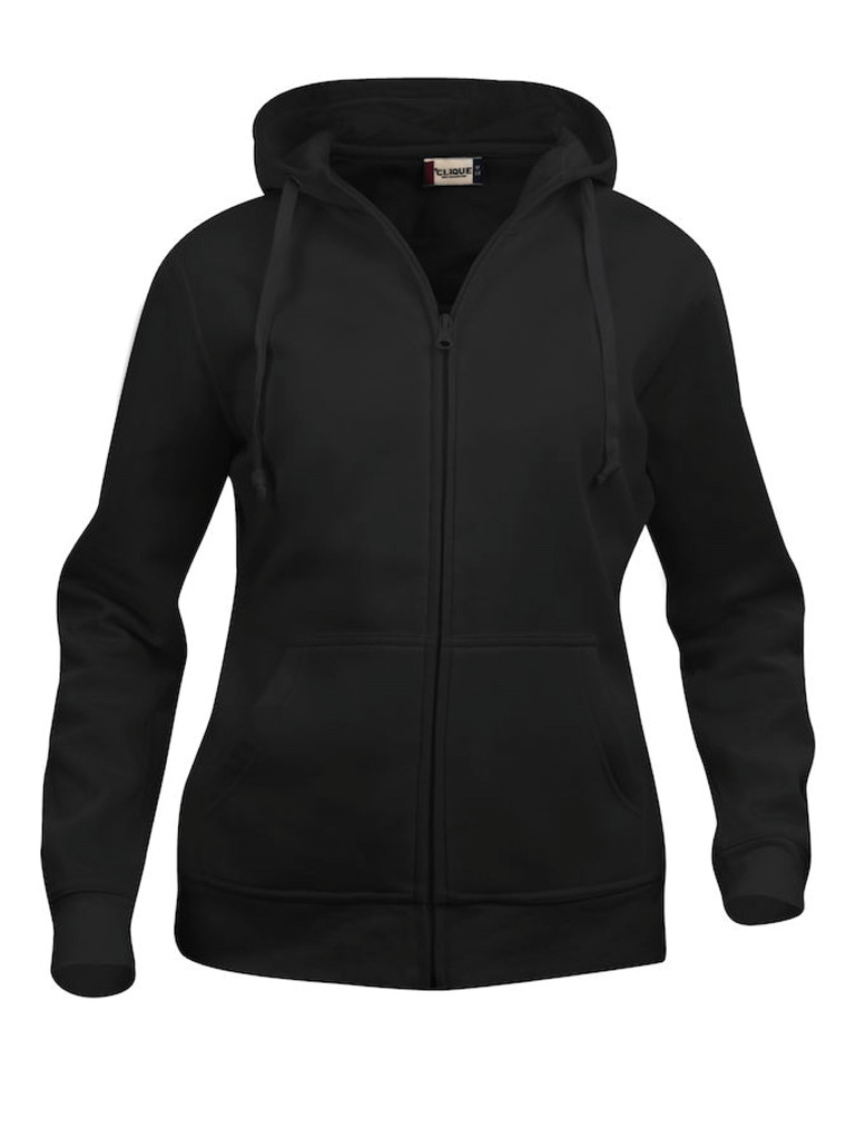 Basic Hoody Full Zip - Dame