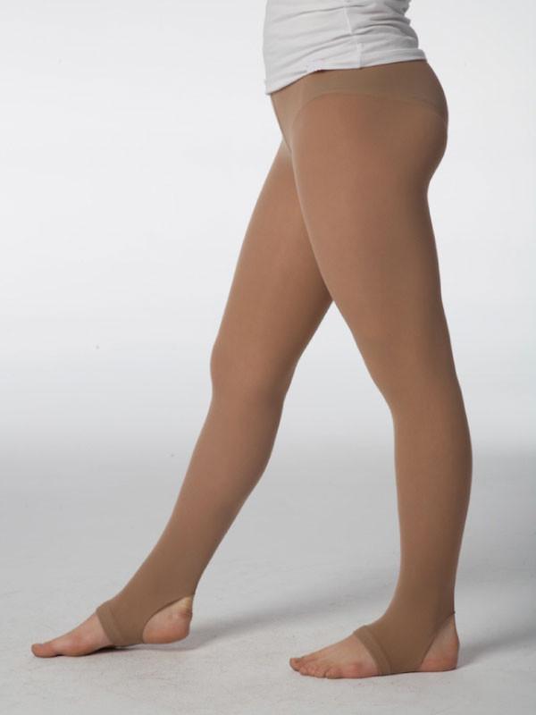 Strømpebukser med halv fot