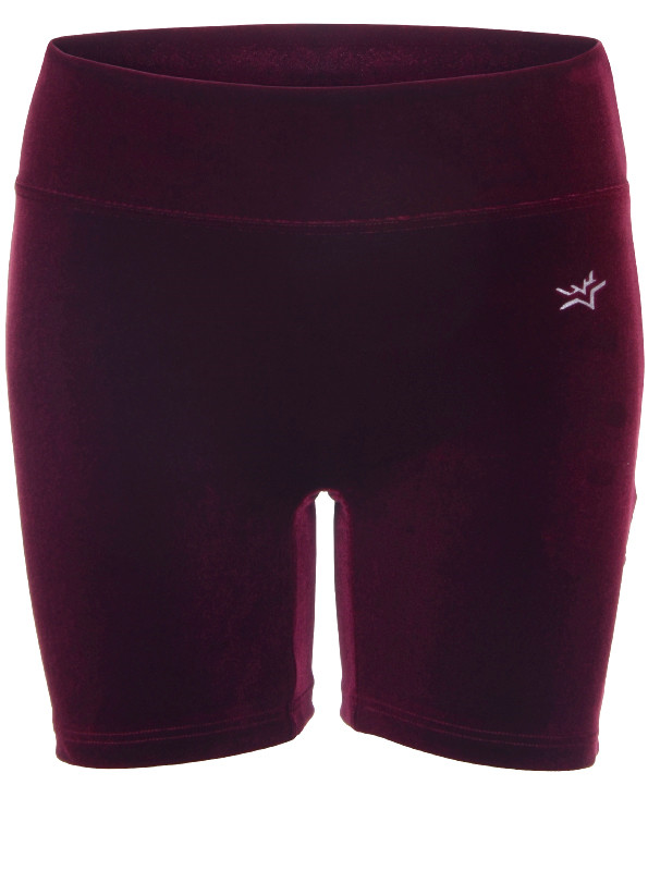 Velour shorts | Bordeaux/marine/black