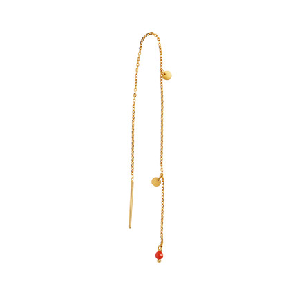 Stine A Dangling Petit Coin and Stone ørering 1126-02-Red