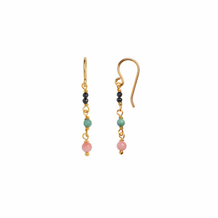 Stine A Petit Stone Earring on Hook - Mixed 1127-02
