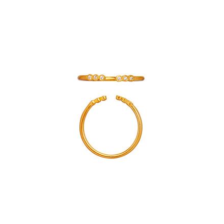 Stine A Open Six Dots ring 4024-02