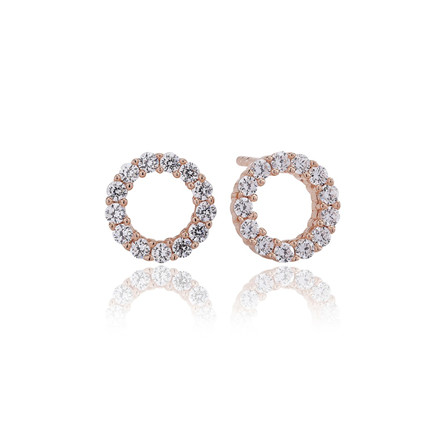 Sif Jakobs Jewellery Biella Uno Piccolo SJ-E337-CZ(RG)