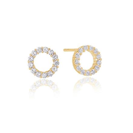 Sif Jakobs Jewellery Biella Uno Piccolo SJ-E337-CZ(YG)