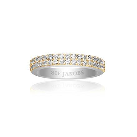 Sif Jakobs Jewellery Corte Due SJ-R10762-CZ(YG2)