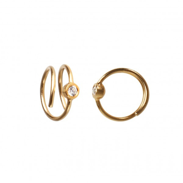 Stine A Big Dot Curl Earring Right Gold 1174-02-L