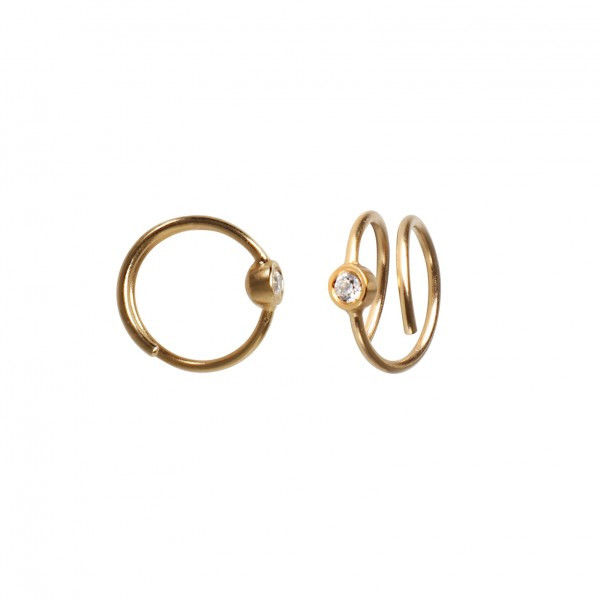 Stine A Big Dot Curl Earring Right Gold 1174-02-R