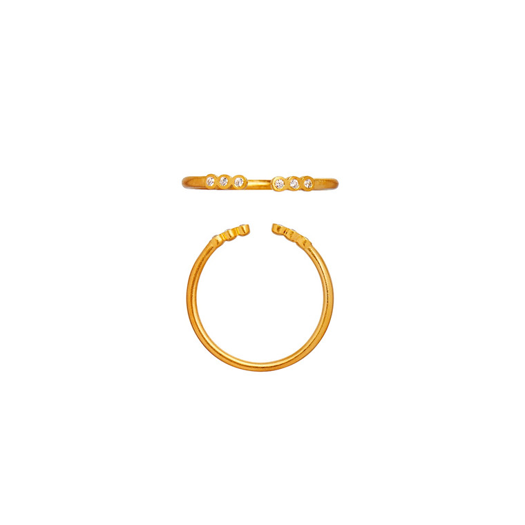 Stine A Open Six Dots ring 4024-02