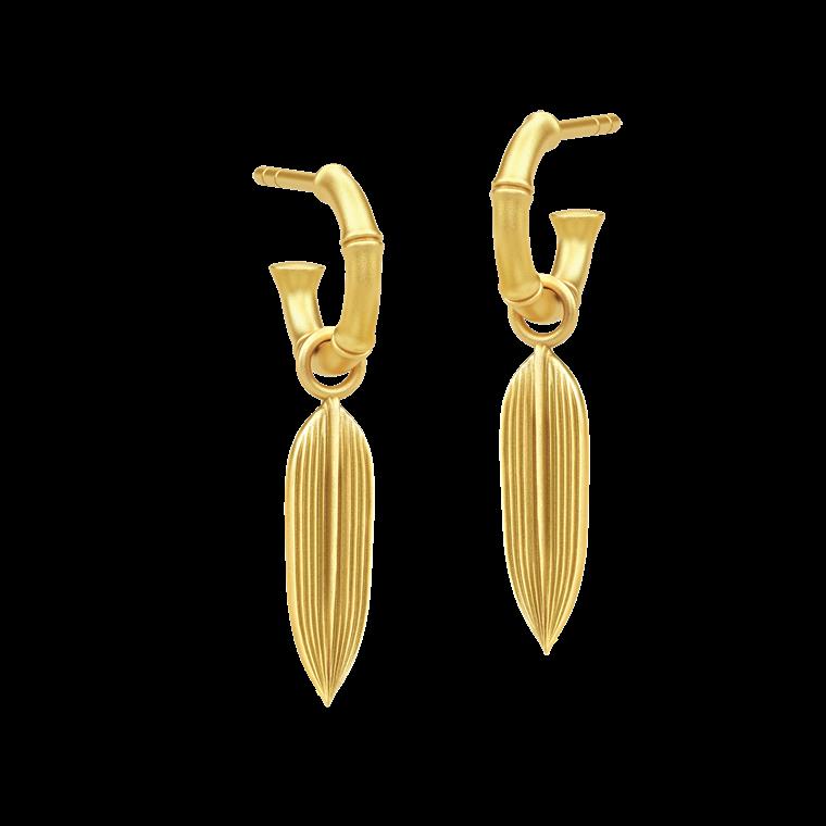 Julie Sandlau Bamboo øreringe HPS85 GD