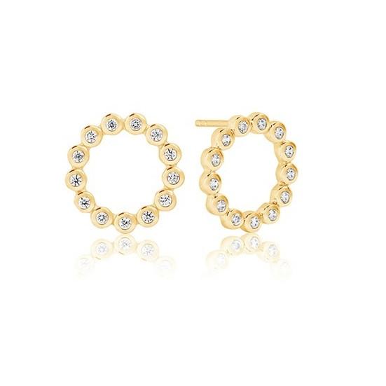 Sif Jakobs Jewellery Sardinien SJ-E2688-CZ(YG)