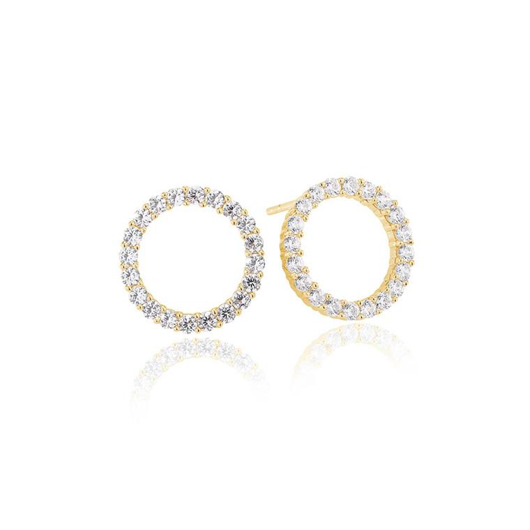 Sif Jakobs Jewellery Biella Uno SJ-E338-CZ(YG)