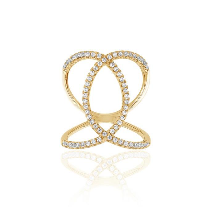 Sif Jakobs Jewellery Fucino SJ-R0059-CZ(YG)