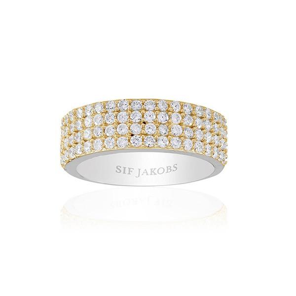 Sif Jakobs Jewellery Corte Quattro SJ-R10764-CZ(YG2)
