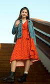 60916 Mads Nørgaard kjole Durilina ORANGE