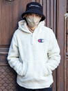 305465 Champion Hooded Half Zip SAND