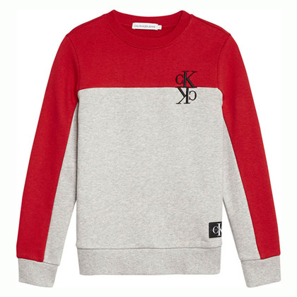 IB0IB00381 Calvin Klein Block Sweat RØD