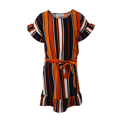 7190856 Hound Ruffle kjole STRIBET