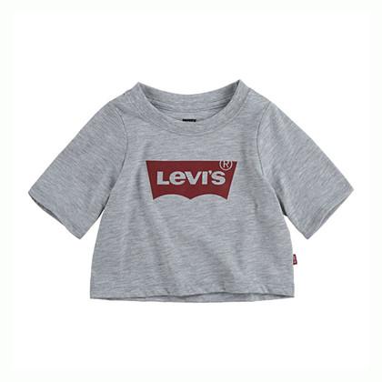 4E0220 Levis Crop Top T-shirt GRÅ