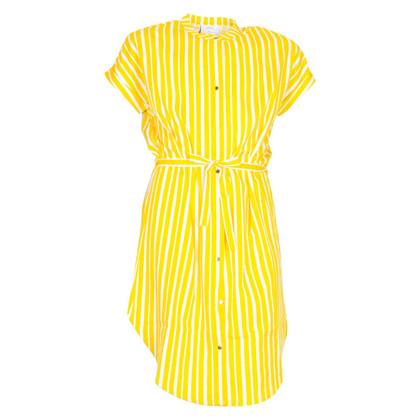 1923-133 Grunt Stripe Kjole GUL