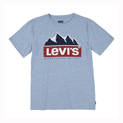 9EB974 Levis Regatta Snow T-shirt LYS BLÅ
