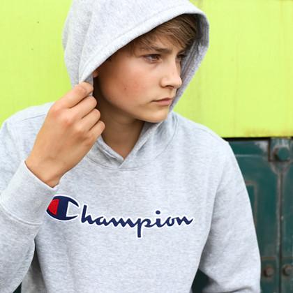 305376 Champion Hoodie GRÅ