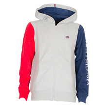 KB0KB05315 Hilfiger ColorBlock Zip GRÅ