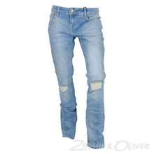 2180127 Hound Straight ripped jeans LYS BLÅ