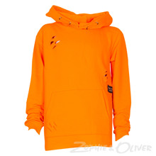 2171034 Hound Long line hoodie  ORANGE