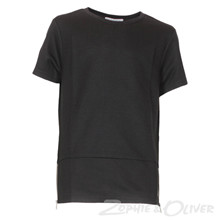 2171003 Hound Long line T-shirt  SORT