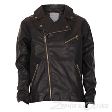 2180102 Hound leather biker jakke SORT