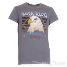 13534 Costbart Rock print t-shirt  KOKSGRÅ