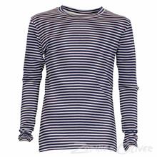13312 Costbart Stribet T-shirt MARINE