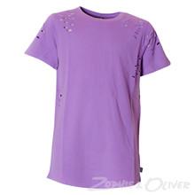 4505155 DWG Mick 155 Ripped t-shirt LILLA