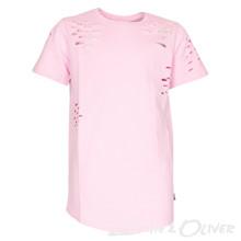 4505155 DWG Mick 155 Ripped t-shirt LYS RØD