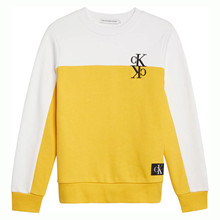IB0IB00381 Calvin Klein Block Sweat GUL