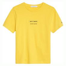 IB0IB00385 Calvin Slogan T-shirt GUL