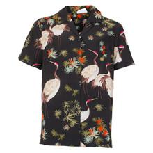 1924-700 Grunt Fugle Skjorte PRINT