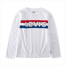9EA133 Levis T-shirt L/Æ HVID