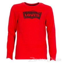 NK10077 Levis T-shirt L/Æ RØD
