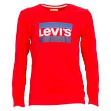 NM10057 Levis Heroel T-shirt L/Æ RØD