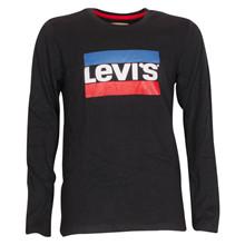 NM10057 Levis Heroel T-shirt L/Æ SORT
